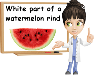 What is the white part of the watermelon rind