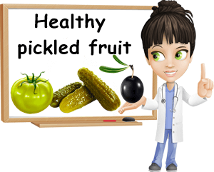 Healthy pickled fruit