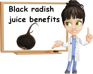Black radish juice benefits