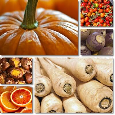 Fruits and vegetables in season in November