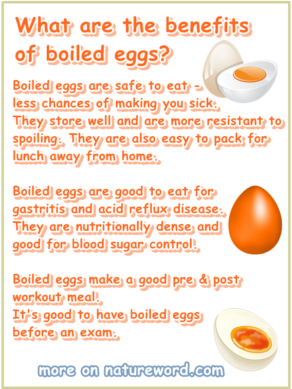 Boiled eggs benefits