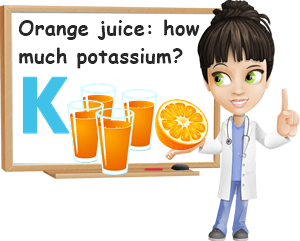 Orange juice potassium