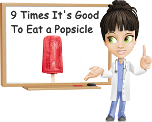 9 times eating a popsicle is good for you