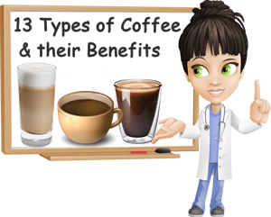 Types of coffee drinks benefits