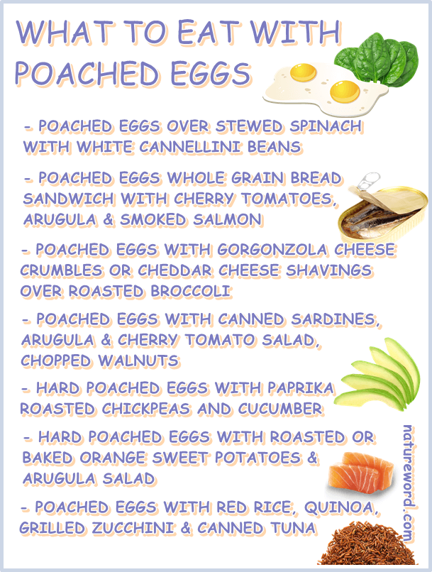 What to eat with poached eggs