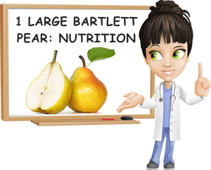 Bartlett pear large nutrition facts