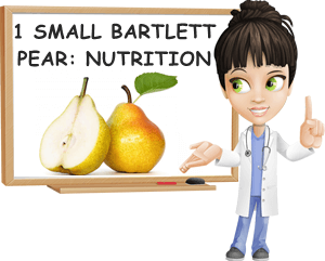 Bartlett pear small nutrition facts
